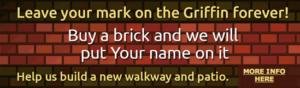 A brick advertisement