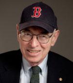Stephen Jarecke in a Red Sox cap