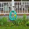 Porch with hose hanging