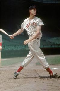 Ted Williams swinging