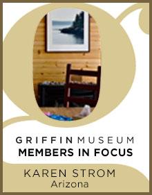 a logo for member in focus Karen Strom