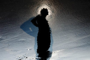 Person and reflection