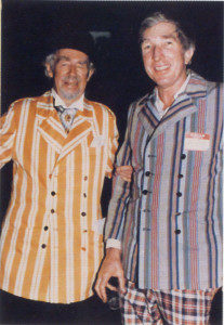 Arthur and John Updike.Both are in striped suits.