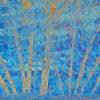 Birches on blue