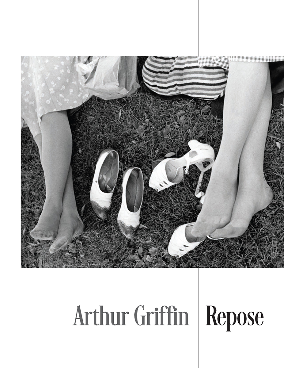 The cover of Arthur Griffin's catalog called Repose. Two women have there shoes off.