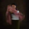 Woman with pink shawl