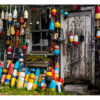 Fishing shack with buoys