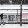 Train station in the snow