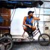 Man on pedal bike