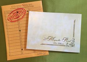 Memo envelop and letter
