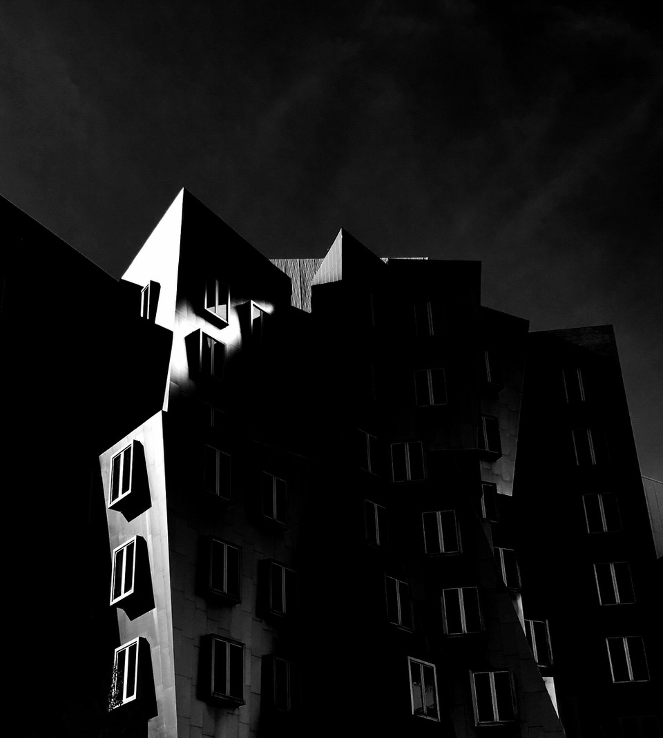 A dark mysterious building on MIT camus
