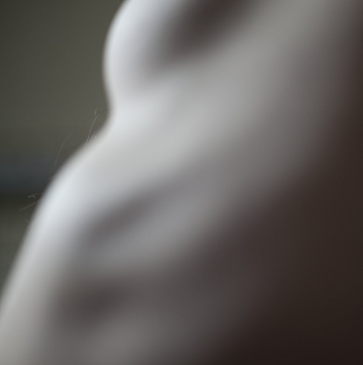 abstract body shape focusing on the body hair