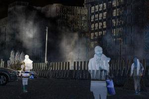 night scene with figure