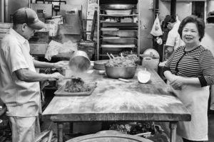 working in kitchen chinatown boston photograph