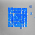 cyanotype with origami squares photograph