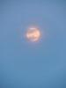 moon agains blue sky