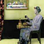 a woman having supper