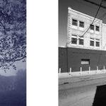 Cyanotype landscape and urban landscape