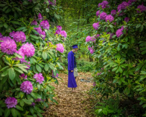 Graduate in garden