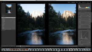 Lightroom Before and After example