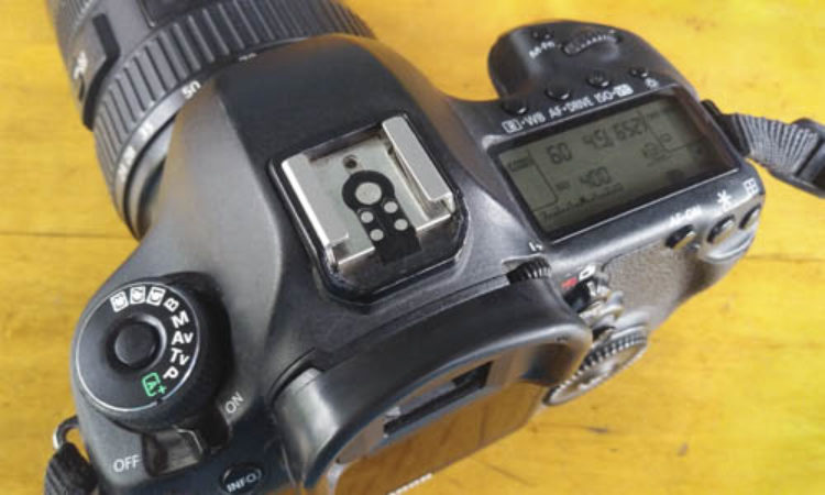 Camera showing controls