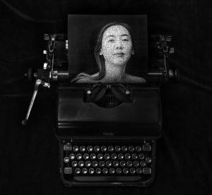 woman typewriter