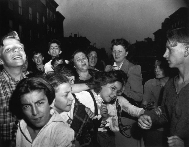 "Weegee, ""Their First Murder,"" 1941, © International Center of Photography"