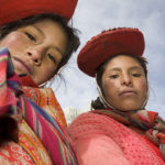 Two Andean Women by Harvey Stein