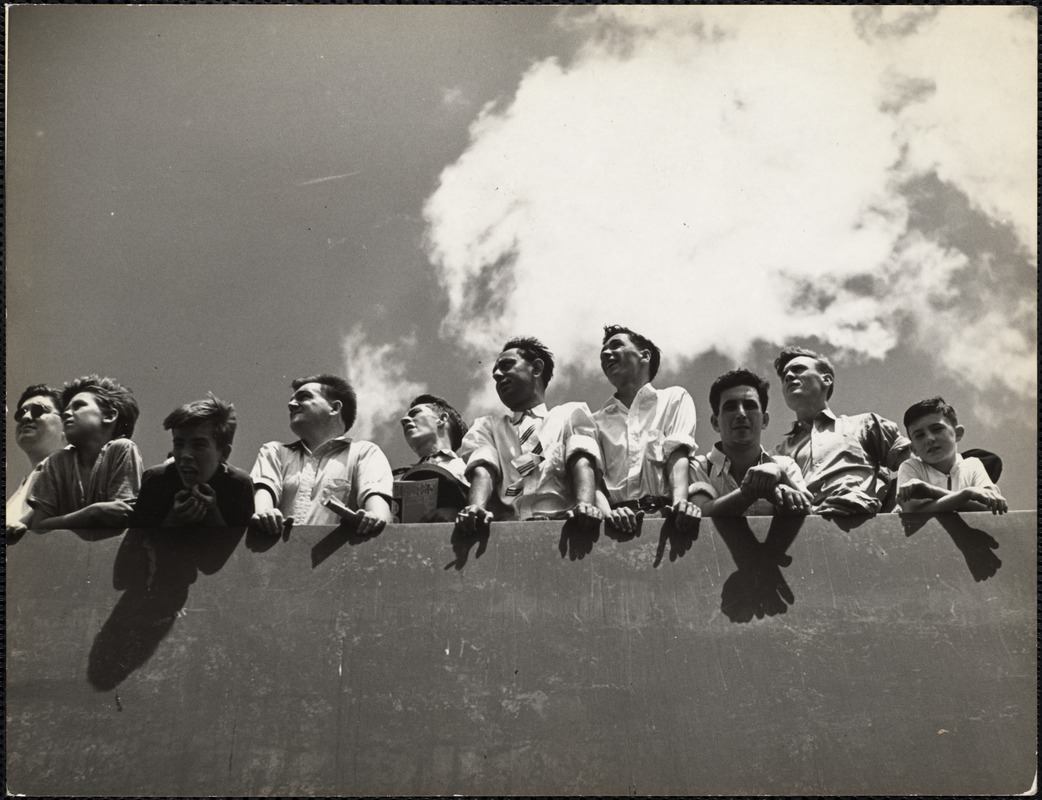 AG Archive- baseball fans at Fenway