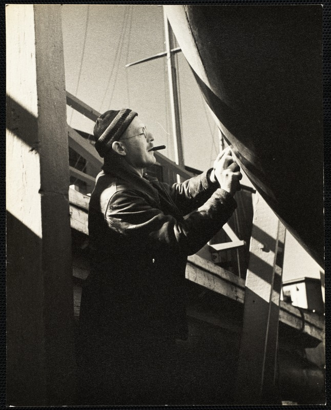 AG Archive- working on the hull