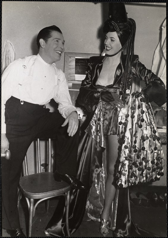 AG Archive- Milton Bearl and performer backstage
