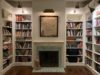 books with fireplace
