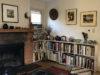 shelf with fireplace