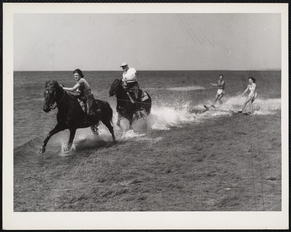 AG Archive- horseback waterskiing