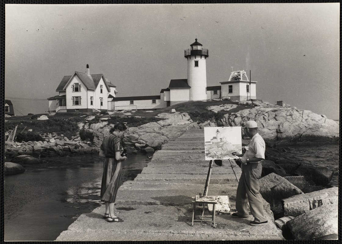 AG Archive- painting the Gloucester lighthouse