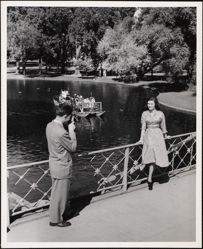 AG Archive- Swan boat and model in the summer