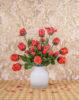 vase of red flowers