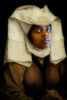 woman with head dress