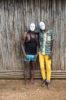 2 men with masks