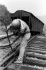 man working on the railroad
