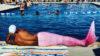 mermaid by pool